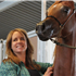 I just love this photo of Suzanne Acevedo & Luxemere Tulio...there's nothing better than the look a proud breeder! ( Trussardi x LM Magnified ) 03/19/2014 chestnut purebred arabian colt bred and owned by Acevedo Arabians and Luxemere Arabians.